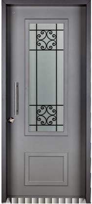 דלת כניסה מעוצבת מדגם בולוניה