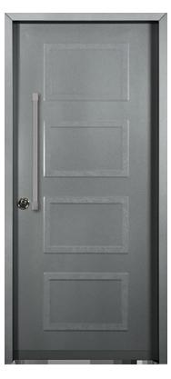 דלת מעוצבת דגם ריבועים