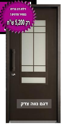 דלת מעוצבת מדגם נווה צדק